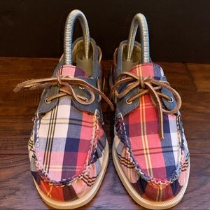 Sperry Top-Sider Boys Plaid Boat Shoes